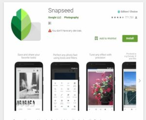 Photo Editing Apps Android