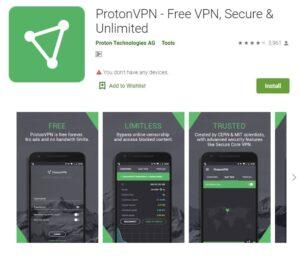 proton vpn app